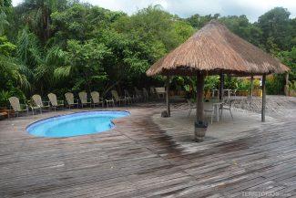 Área das piscinas para treino