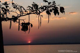 Pôr do sol na Ilha da Canela, em Palmas