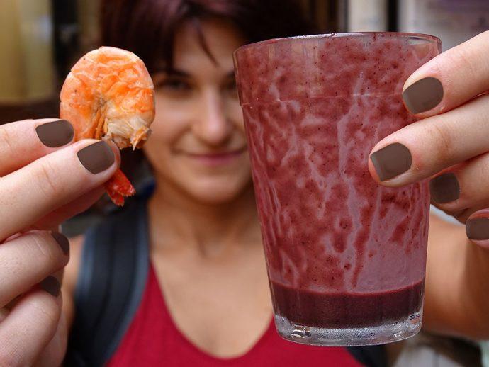 Açaí com camarão?!!!