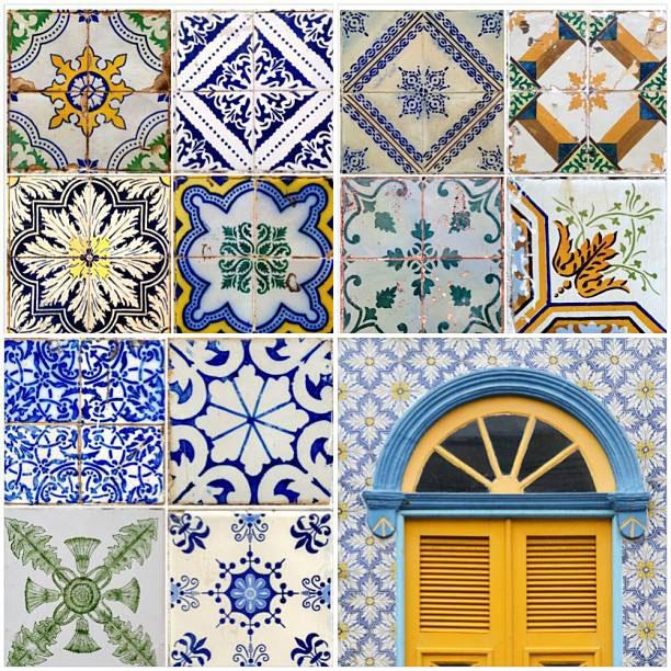 Exemplos de azulejos encontrados em São Luís
