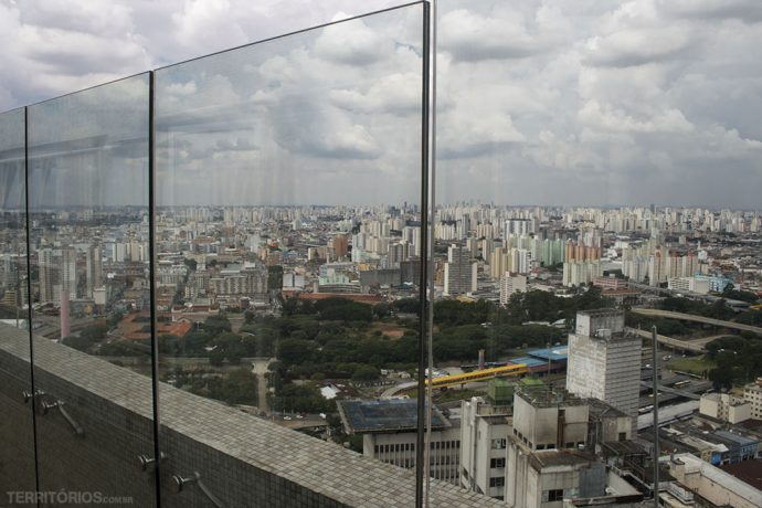 View from one of the highest point of downtown São Paulo