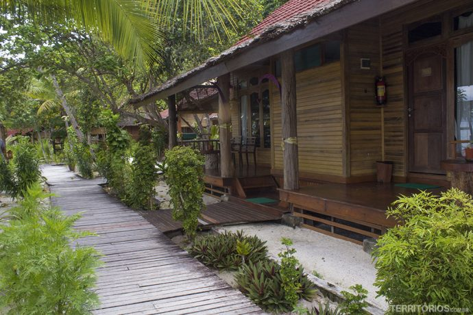 Bangalôs no Raja Ampat Dive Lodge