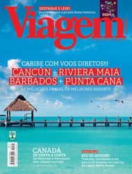 Artigo sobre Barbados na capa da Viagem e Turismo