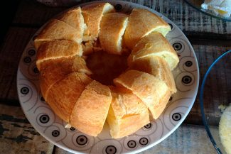Adorei o bolo de roda
