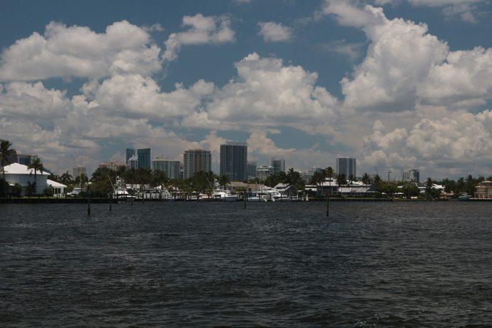 Fort Lauderdale vista do rio New River