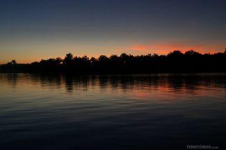 Por do sol no Rio Tocantins