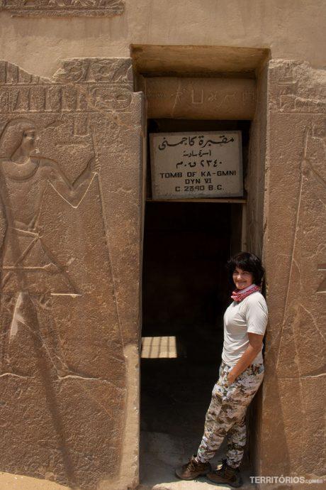 Uma das tumbas de Saqqara
