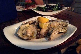 Ostras e mariscos para o jantar