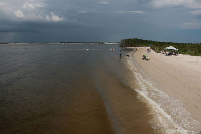 Praia no River Indian Lagoon