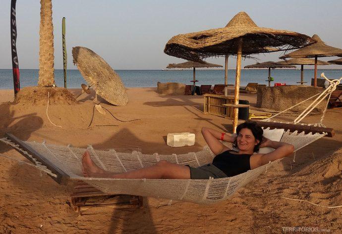 Vida boa na praia de Sharm El Sheik