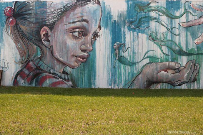 Parte do mural pelos alemães Herakut