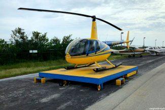 O helicóptero (crédito Gardênia Rogatto)