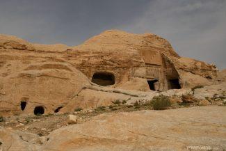 Cavernas no início da trilha