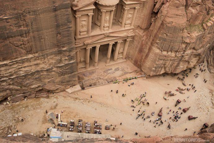 O Tesouro de Petra visto de camarote