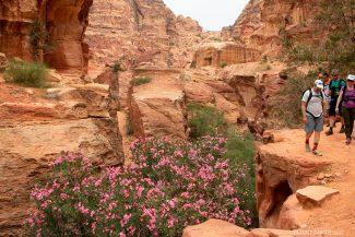 Trilha alternativa em Petra
