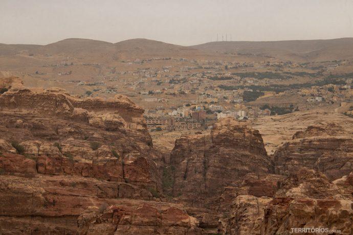 Parte de Wadi Musa no alto