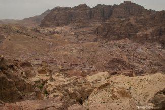 Parte da cidade de Petra vista do alto