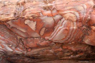 Textura interna das cavernas de Petra