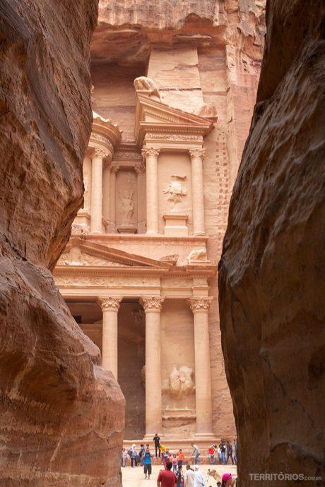 O Tesouro visto pela primeira vez pela maioria dos turistas