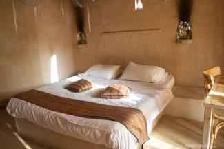 Cama confortável no Feynan Ecolodge