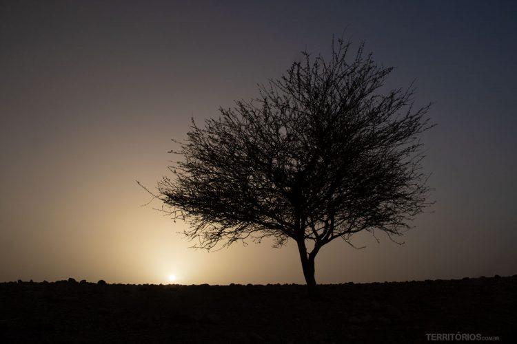 Pôr do sol na Reserva da Biosfera Dana