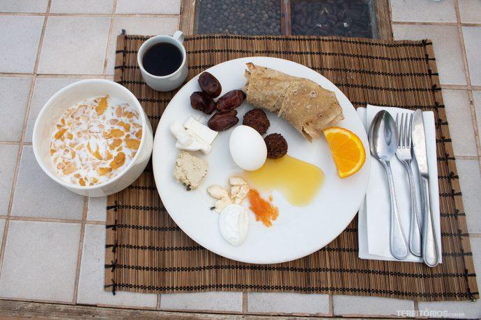 Café da manhã no Feynan Ecolodge