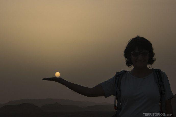 Sol definido por causa da poeira