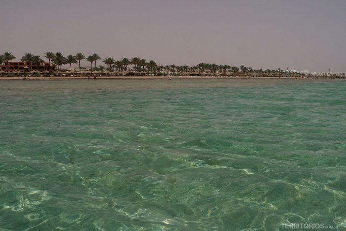 Água cristalina em Sharm El Sheik