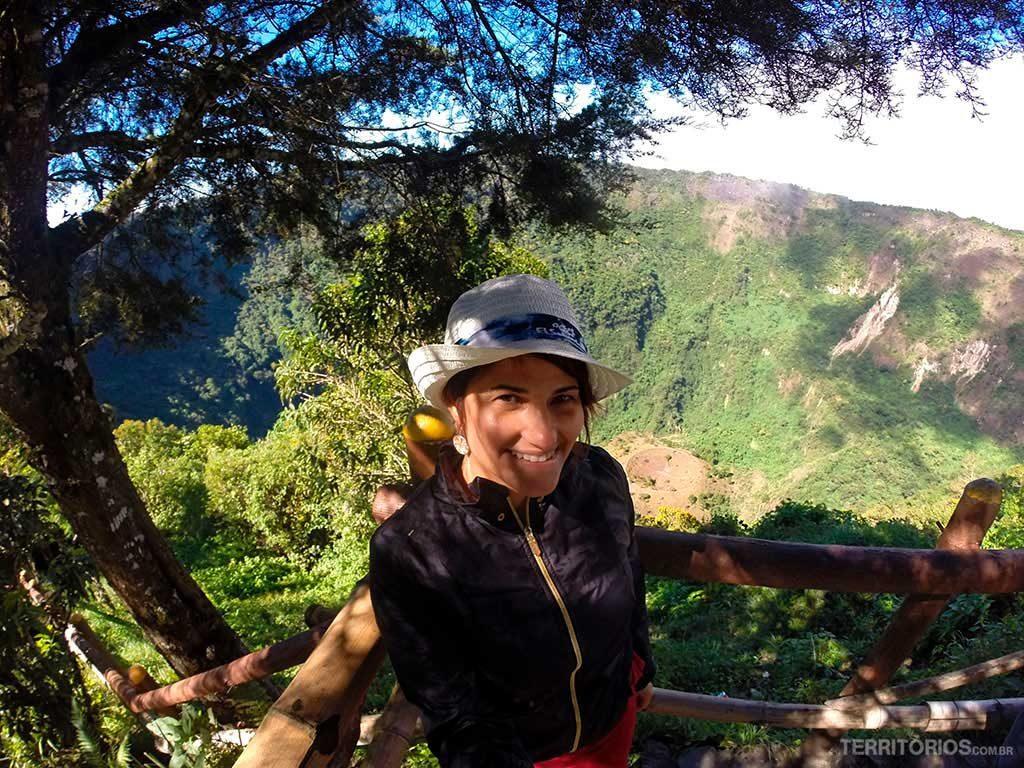 No vulcão El Boquerón
