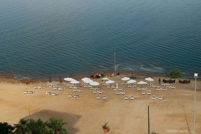 Área de banho no Mar Morto é limitada por segurança