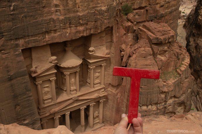 Em Petra, na Jordânia