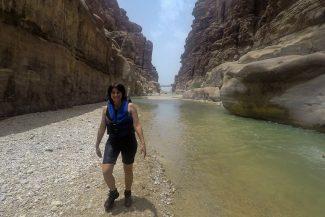 Início da Trilha Siq e rodovia Dead Sea ao fundo