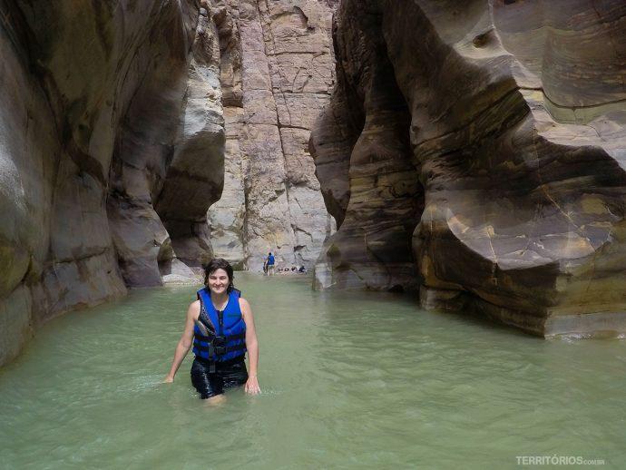 Dentro de Wadi Mujib