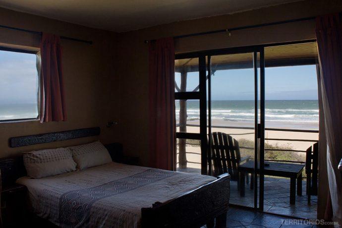 Vista do quarto em Jeffreys Bay