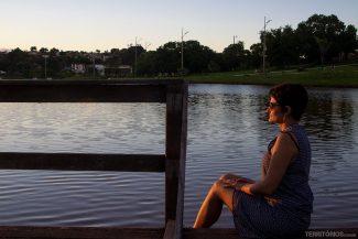 ... eu curtindo o pôr do sol em Campo Grande