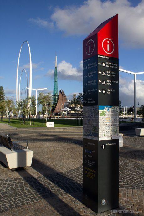 Sinalização em Perth City