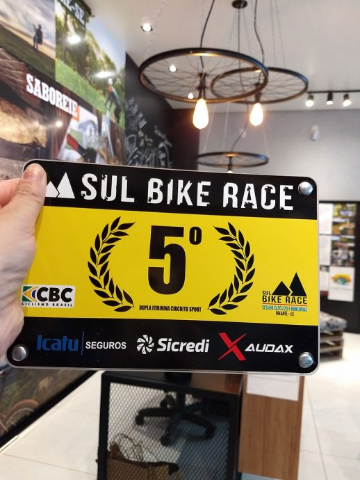Placa de campeonato de bike
