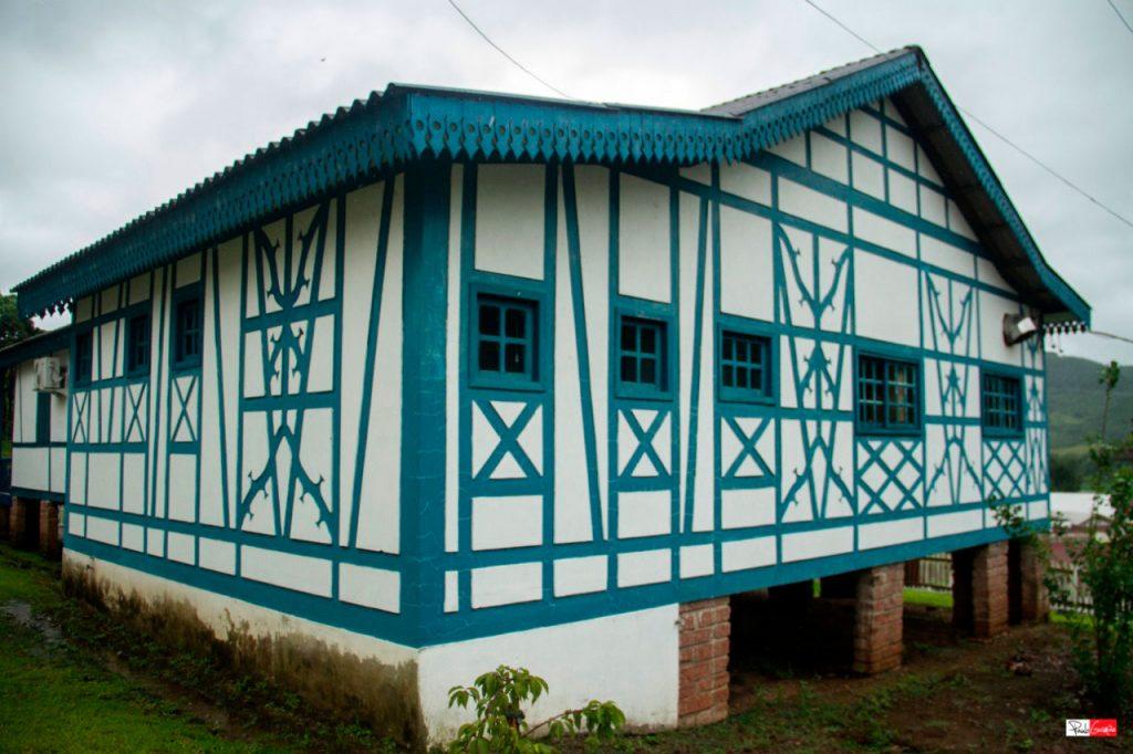 Casa de arquitetura Enxaimel em Forquetinha