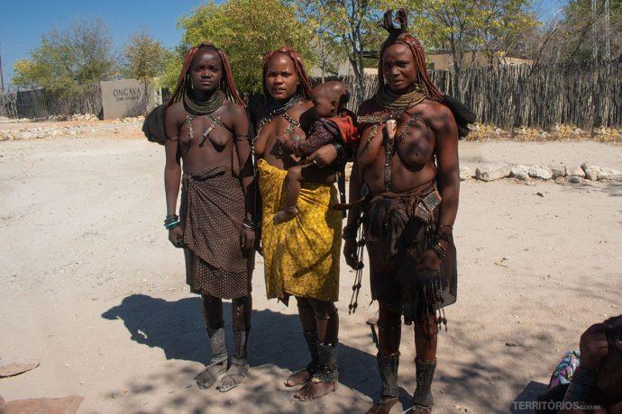 Mulheres da tribo Himba, mais famosa na Namíbia