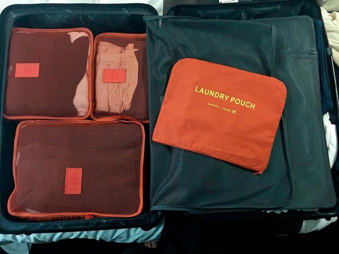 Organizadores para levar na mala de viagem