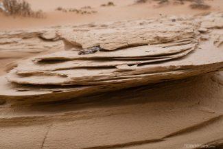 Textura da areia seca