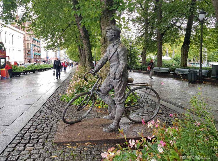 Escultura em Oslo