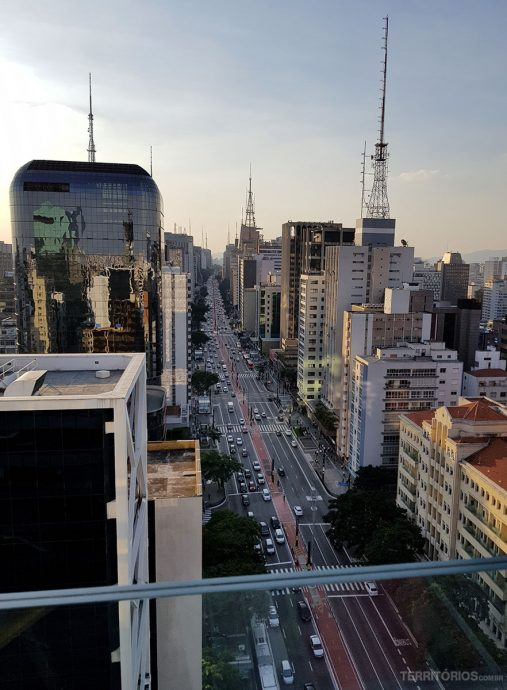 Vista em São Paulo do terraço SESC Paulista