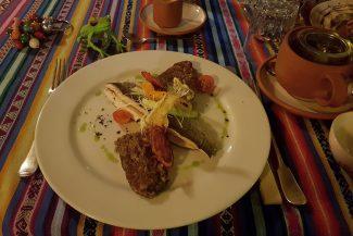 Truta assada é comum na comida peruana