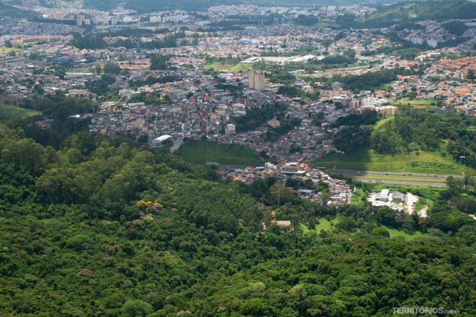 View in São Paulo from Pico do Jaraguá