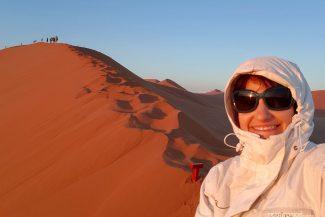 Selfie com o Tesão nas dunas da Namíbia
