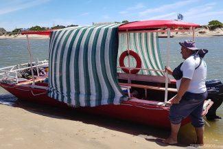 Barco para atravessar o Arroio Valizas