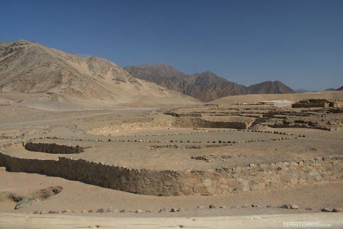 Anfiteatro em Caral, Peru