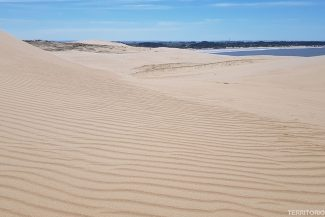 Vista para Valizas do alto da primeira duna