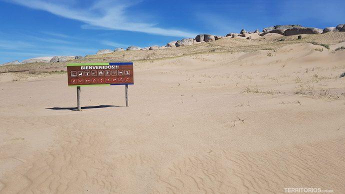 Sinalização de início da Reserva de Cabo Polonio